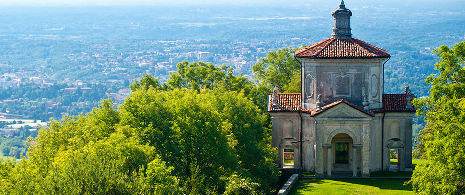 Sacro Monte from above, Varese